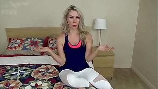 Mom's New Workout Routine: Sex Burns the Calories, POV - Mom Fucks Son, MILF, Family Sex, Blondes