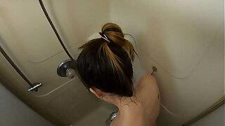 Caught my Derisive floosie sister in the shower