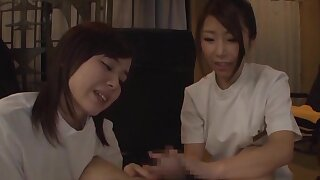 Hot ass babes from Japan in head and take bends riding his dick