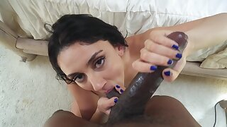 POV anal for a thick Latina in great mood
