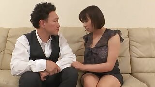 Chubby Japanese MILF drops her panties to loathe fucked in missionary
