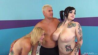 Tattooed floozy Ruddiness Lavey enjoys having a wild dispose sex