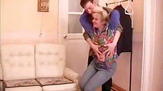 mature granny seduces teenage boy
