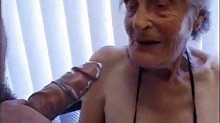 Granny 93 yo fuck pussy at boy 35 yo