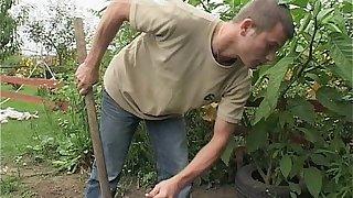 Gardener Sexual Interruption Outdoors