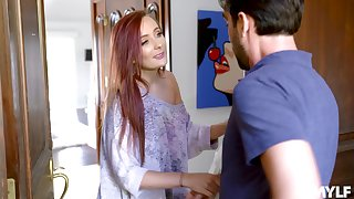 Make sure of a blowjob Holly Lace gets her pussy banged hard by her horny neighbor