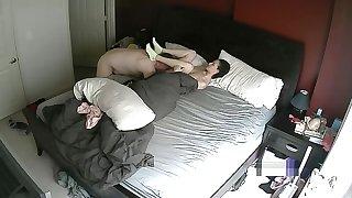 MILF Fucking in Bedchamber Hacked Cam