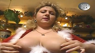 German Big Beautiful Woman Whore Dresses Up As Santa Cla - thick