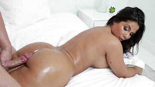 In top form Monroe enjoys every sex pose with her boyfriend on the bed