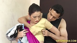 The hot maid Kaanta Bai caught overheated handed and fucked hard in all say no to holes