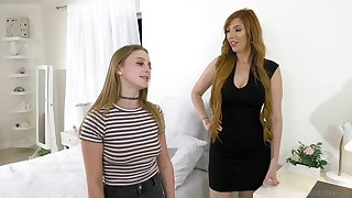 Lauren Phillips and Laney Grey having amazing lesbian sex superior to before the bed