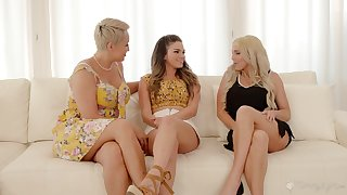 Principal lesbian experience with stepmom Ryan Keely and say no to best friend Christie Stevens