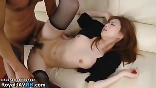Japanese Wife In Stockings Copulated Unconnected with Older Man