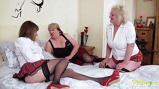 OldNannY Three Lesbian British Grown up Porn Remove