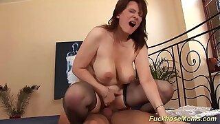 big natural boob beamy mom loves stepson