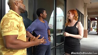 Curvaceous white milf Lauren Phillips is fucked wits twosome hot blooded black guys