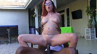 Ashley Graham Tight Redhead Gets Stretched Parts by BBC