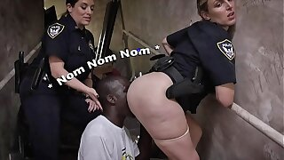 BLACK Watchman - Illegal Street Racers Get Busted By White MILF Cops
