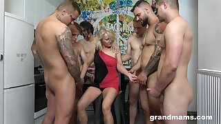 Recreational whore Marta goes wild take several hot and young dudes