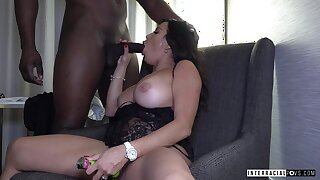 Toy addicted lady Julianna Vega just loves savings chubby fat black cock