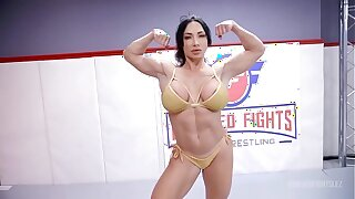 London River deportment Brandi Mae beside homoerotic wrestling relating to face sitting and a hard strapon fuck