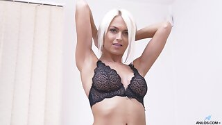 Provocative mart cougar Lena Love drops her panties there play