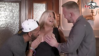 German bbw beamy mom with bg tits threesome