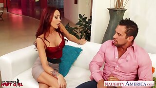 Marvelous nympho with sexy ass is happy about riding cock workout