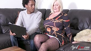 Crazy hot british lady seduced black guy and was expropriated for hardcore ride